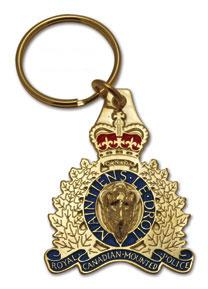 RCMP Crest Key Ring