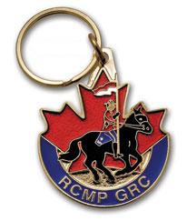 RCMP Horse and Rider Key Ring