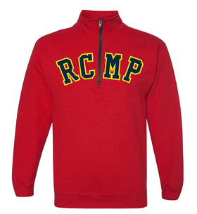 RCMP Embroidered Quarter-Zip Sweater