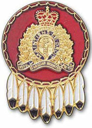 RCMP Gold Crest with Feathers Pin