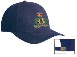 RCMP Crest on Brushed Cotton Cap