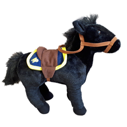 10 inch RCMP Horse plush toy