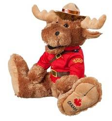 14 inch RCMP Big Foot Moose plush toy