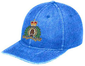 RCMP Crest Washed Denim Hat