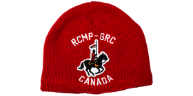Knit RCMP-GRC Horse and Rider Toque