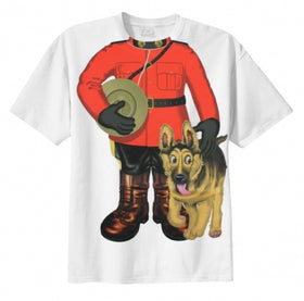 RCMP Mountie with Dog Childs T-Shirt
