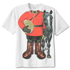RCMP Mountie with Horse Childs T-Shirt
