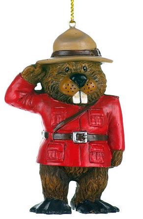 Mountie Beaver Ornament