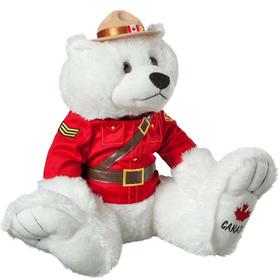 14 inch RCMP Big Foot Polar Bear plush