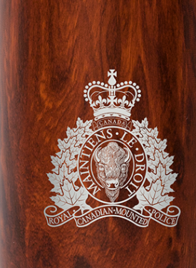 RCMP Crest Insulated Bottle Black Finish