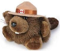 4.5 inch Mountie Beaver Plush Toy