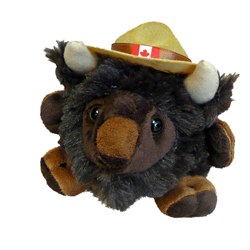 4.5 inch Mountie Buffalo Plush Toy
