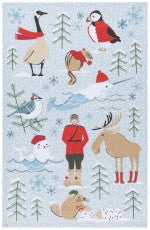 Nice Weather Eh? Dish Towel Mountie