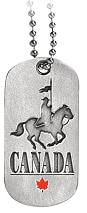 RCMP Dogtag Horse and Rider