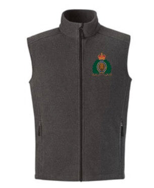 RCMP Crest Polar Fleece Vest -Grey