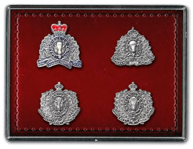 Historical RCMP Crest Pin Set