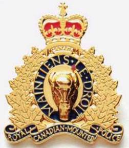 Largest RCMP Gold Crest Pin