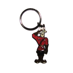 Saluting Mountie Key Ring