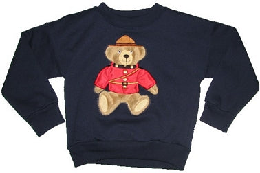 RCMP Teddie Bear Sweatshirt child sizes