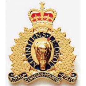 Large RCMP Gold Crest Pin