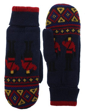 Knit Mounties Mittens