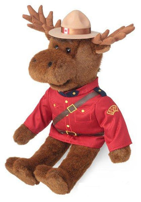 22 inch RCMP Mountie Officer Moose plush toy