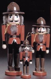 RCMP Mountie Nutcracker 10 inch