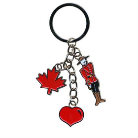 Mountie and Charms Key Ring