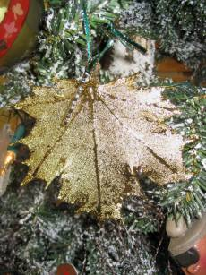 Real Maple Leaf Christmas Ornament