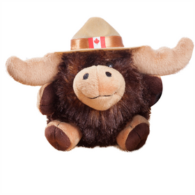 4.5 inch Mountie Moose Plush Toy