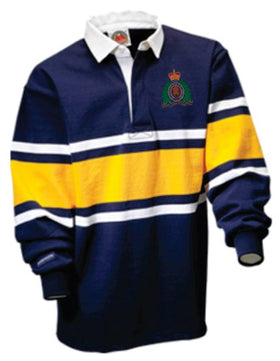 RCMP Crest Rugby Shirt Navy-Gold-White