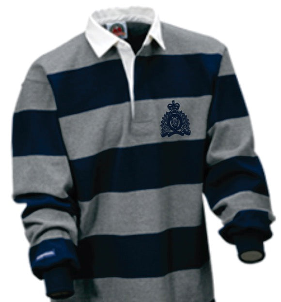 RCMP Crest Rugby Shirt Navy-Grey