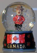 Snowglobe Mountie In The Snow