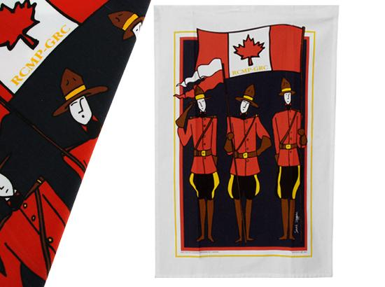 RCMP motif-design Tea Towel