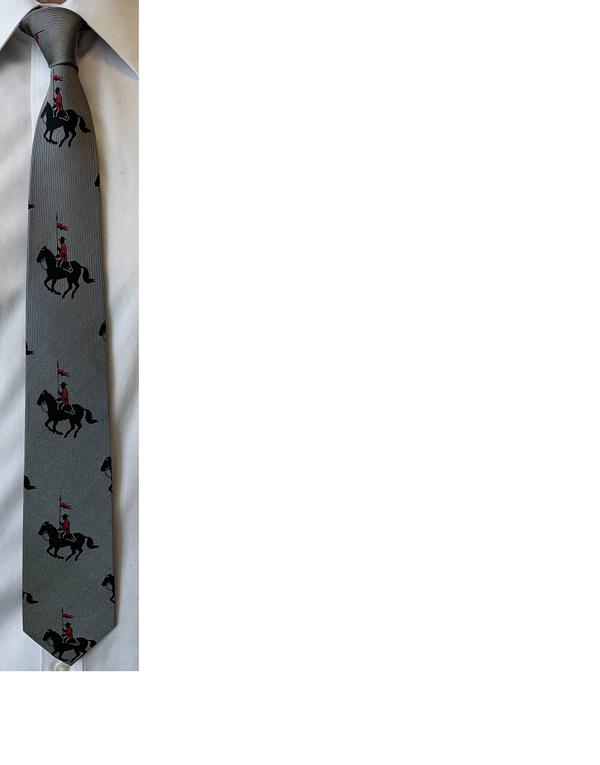 RCMP Horse and Rider Silk Tie