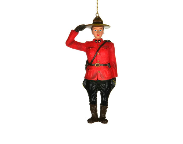Mountie Saluting Ornament Female
