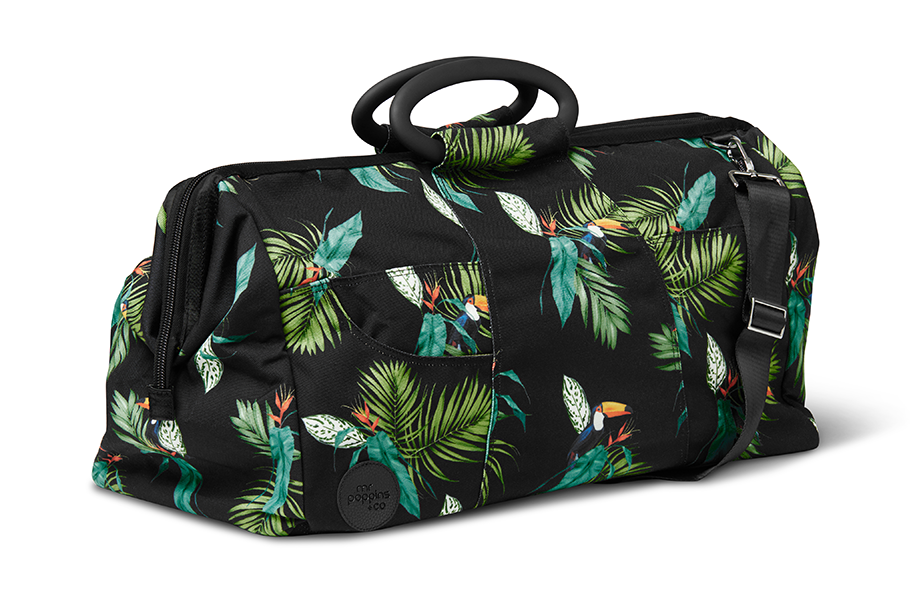 Extra large weekend bag with toucan print