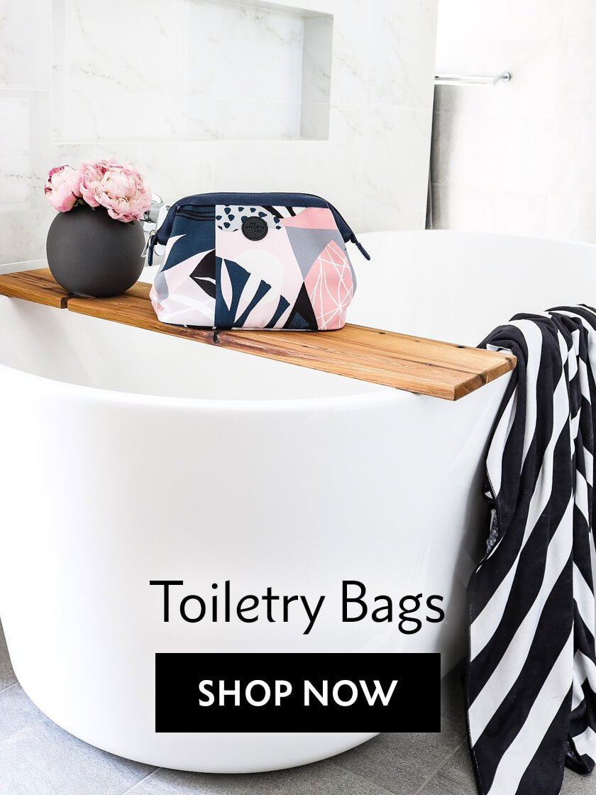 Perfect toiletry makeup bags for travel