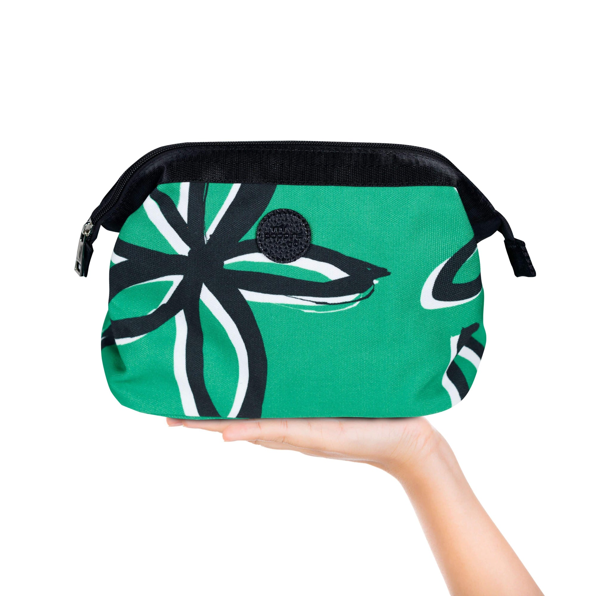 Makeup or cosmetic bag for travel in classic Emerald colour
