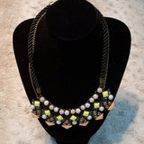 Sugarfix Dual Strand Fashion Necklace With Accents
