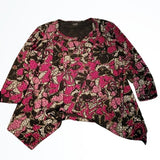 NWT Alia USA Pink Layered Top and Cardigan Set Size S