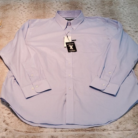 NWT Lauren Ralph Lauren Classic Fit Blue Dress Shirt