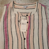 NWT Splendid Linen Stripe Picnic Dress W Tie RD0231X