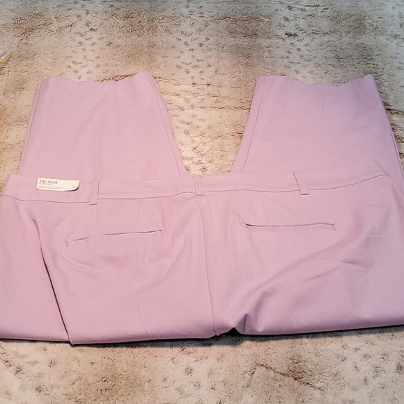 NWT Lane Bryant Allie Slim Crop Scallop Dress Pants Size 28