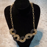 NWT Hot Mamma Brown Wood Glam w Gold Tone Accent