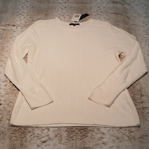 NWT Napa Valley French Ivory Pull Over Crew Sweater