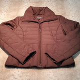 Kenneth Cole Reaction Brown Down Fill Puffer Coat Size S