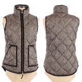 J.Crew Quilted Chevron Print Down Puffer Vest Size XS