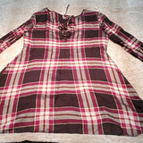 NWT LOFT Plaid Long Sleeve Sheath Midi Dress Size 16