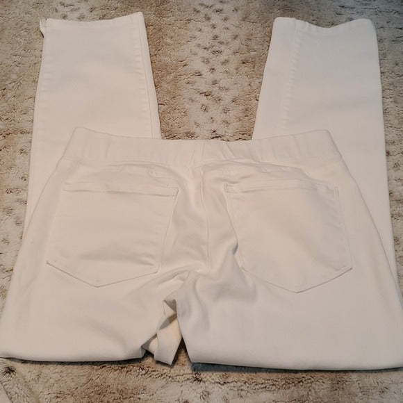 NYDJ White Stretch Alina Pullon Ankle Jeans Size 2